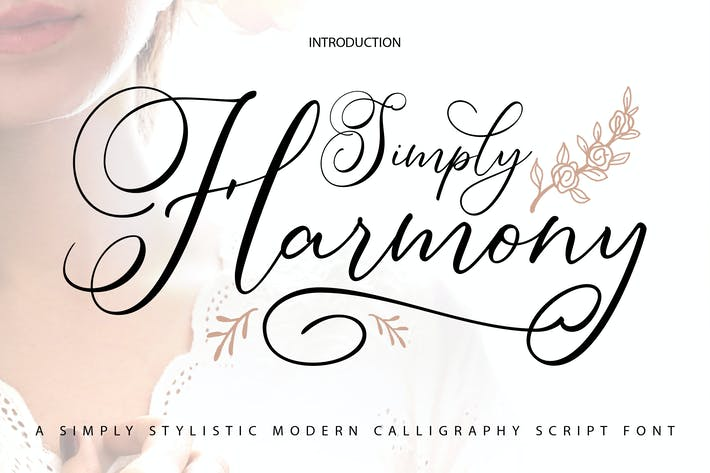 Thumbnail for Simply Harmony | Stylistic Modern Calligraphy Font