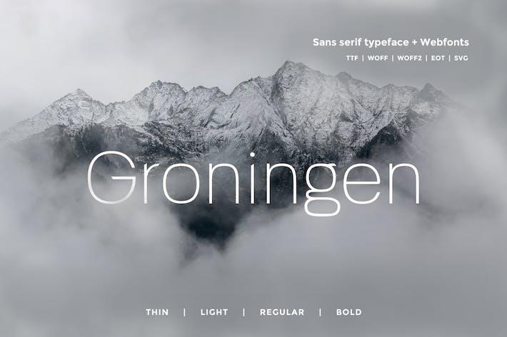 Thumbnail for Groningen - Modern San-serif Typeface + Webfonts