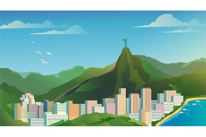 Rio De Janeiro - Illustration Background