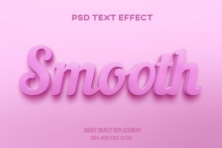 Гладкий розовый пастельный текстовый эффект