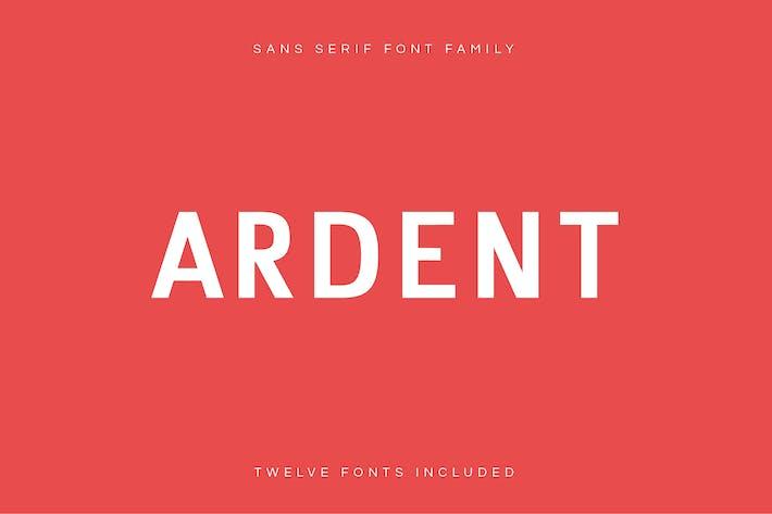Thumbnail for Ardent Sans - Modern Font Family