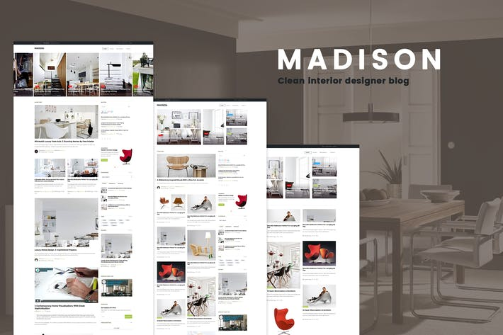 Thumbnail for MADISON II - Clean Designers Blog Template