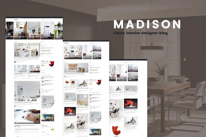 Thumbnail for MADISON II - Modèle de blog des concepteurs propres