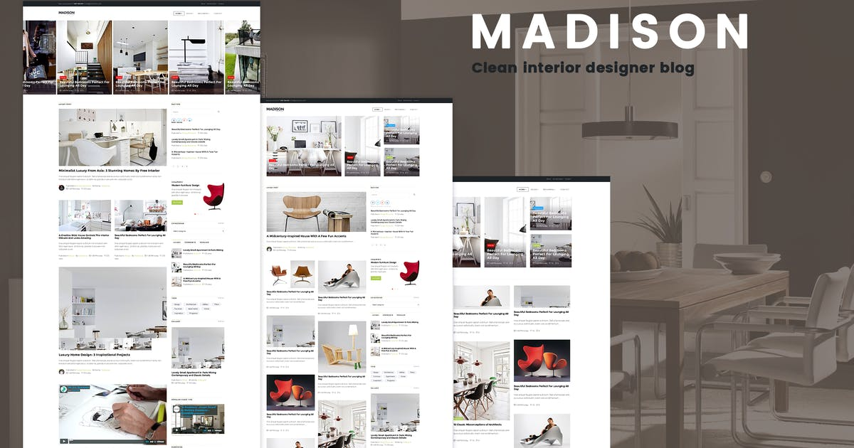 Download MADISON II - Clean Designers Blog Template by codenpixel