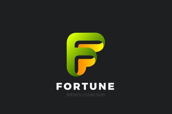 Thumbnail for Lettre F Logo design style ruban 3D