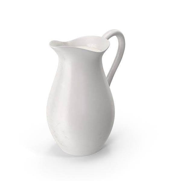 Фарфоровый караф молока