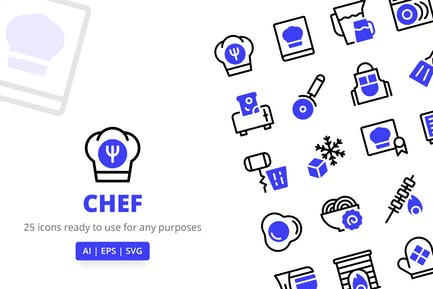 Chef (Line and Solid)