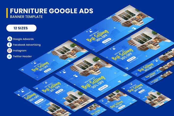 Thumbnail for Furniture Google Adwords Banner Template