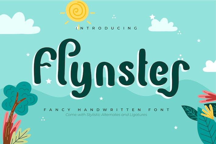 Thumbnail for Flynster | Fancy Handwritten Font