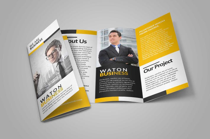 Thumbnail for Waton Business Trifold Brochure Template