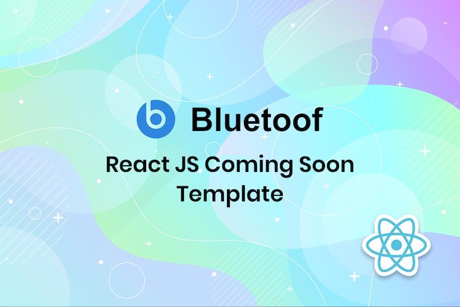 Bluetoof - React JS kommt bald Vorlage