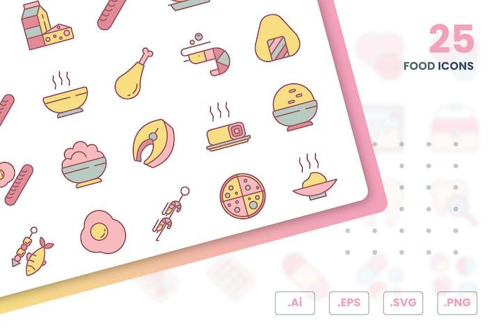 Thumbnail for Food Icons Set