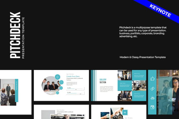 Pitch deck Business Keynote Template - LS