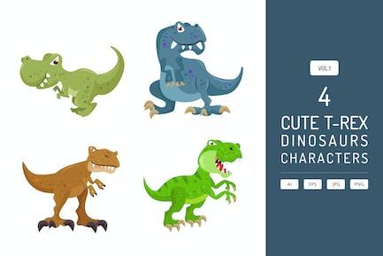 Niedlicher T-Rex - Dinosaurier Charakter Vol.1