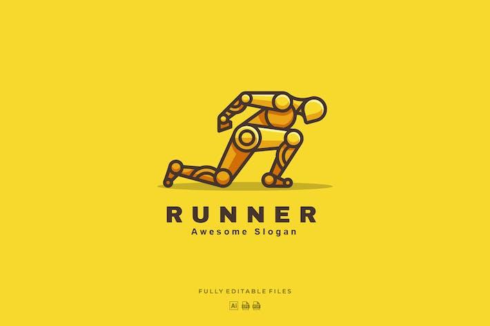 Thumbnail for Robot Runner Color Line Logo