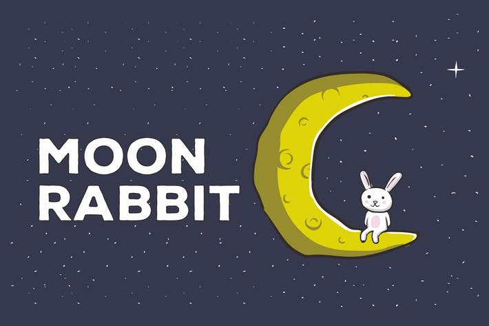 Thumbnail for Moon Rabbit Vector Illustration Artwork