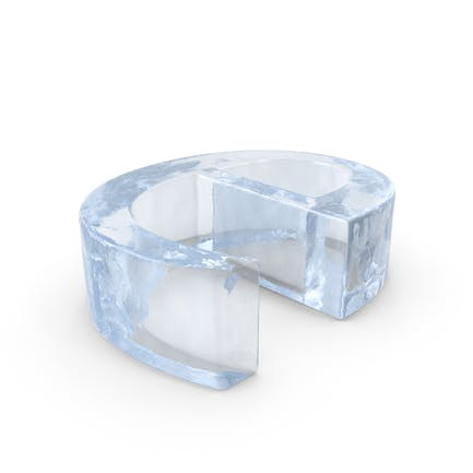 Ice Letter Lowercase E