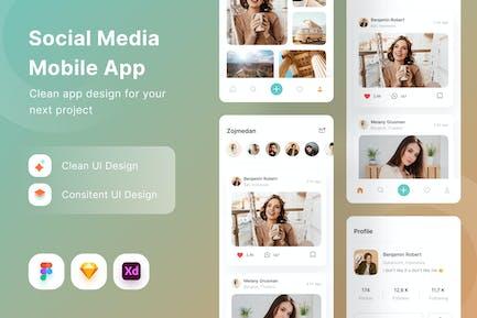 Appli mobile sur les réseaux sociaux