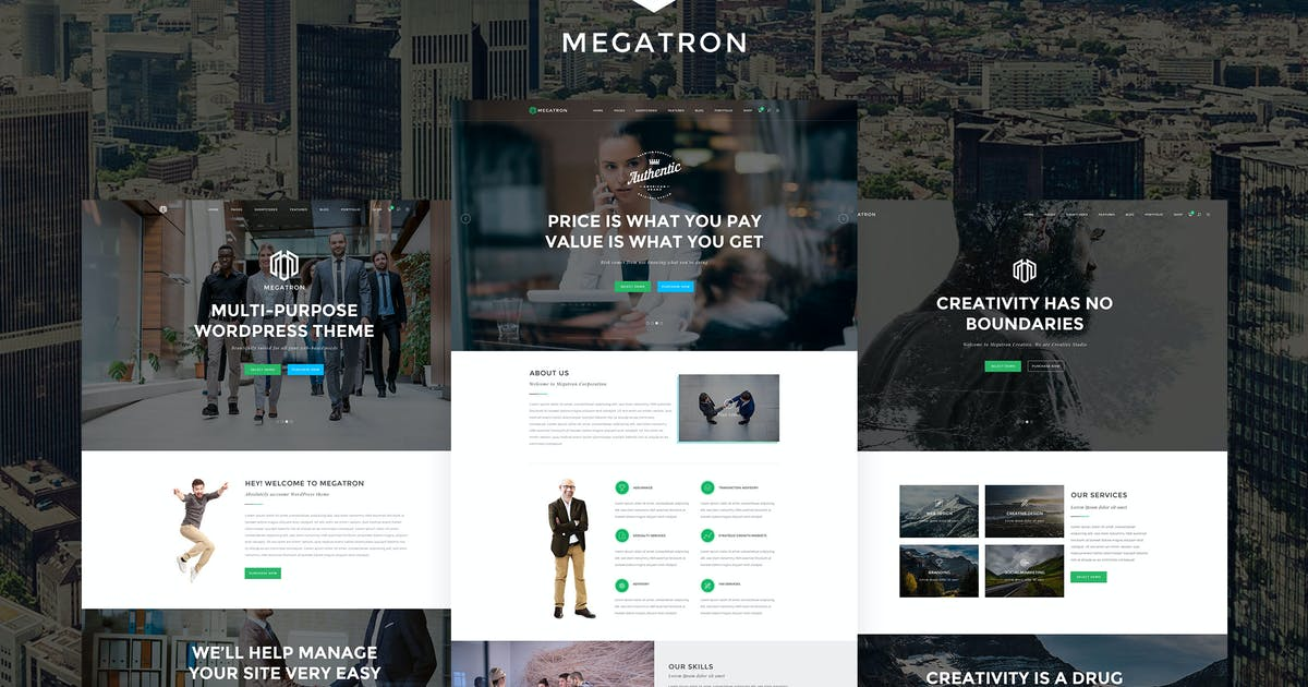 Download Megatron - Multipurpose HTML5 Template by 9WPThemes