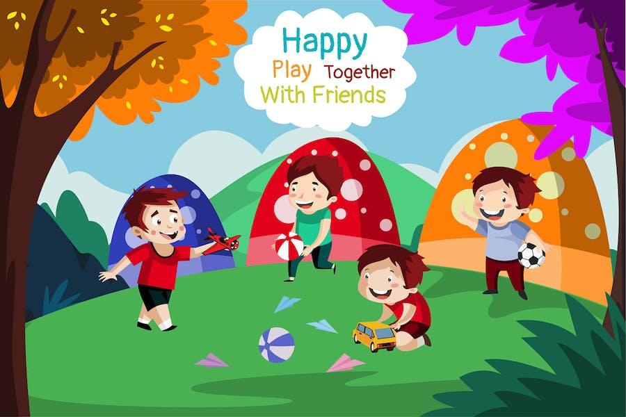 Glücklich zusammen - Illustration