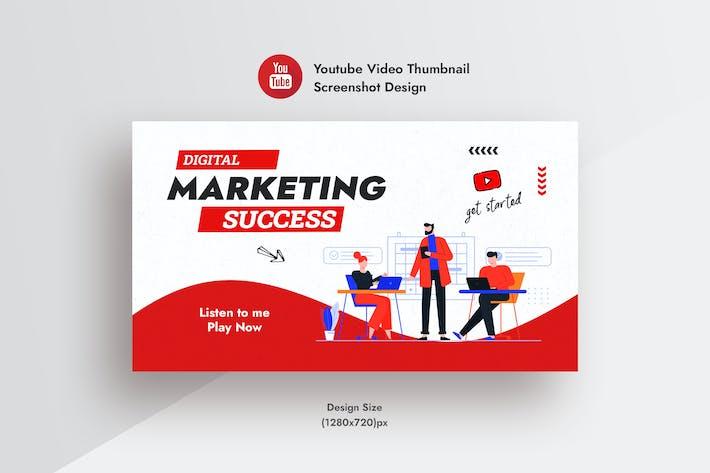Цифровой маркетинговый Агентство Youtube Видео Миниатюра