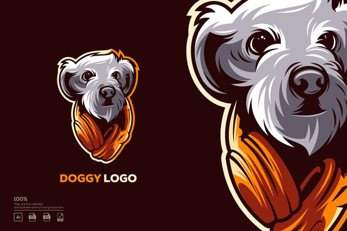 Thumbnail for doggy logo design