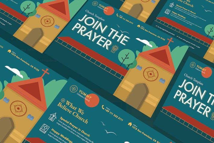 Thumbnail for Church A5 Flyer PSD Template