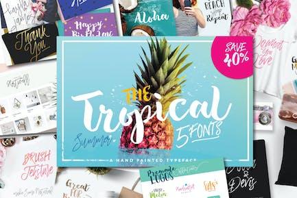 The Tropical Font Set