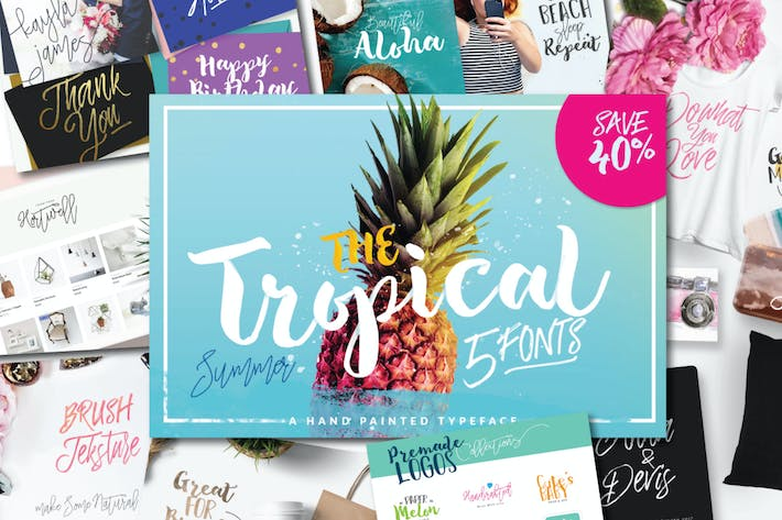 Cover Image For The Tropical Font Set