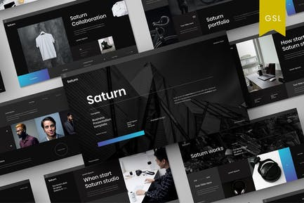 Saturno - Plantilla de diapositivas de Google