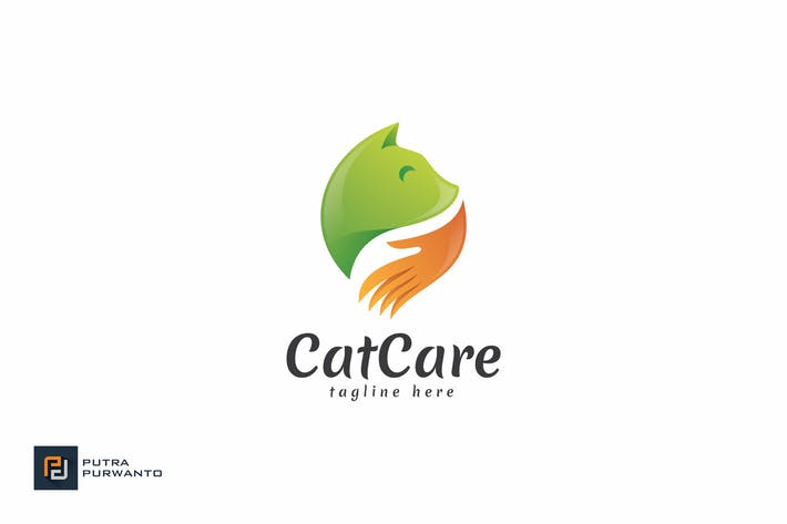 Thumbnail for Cat Care - Logo Template
