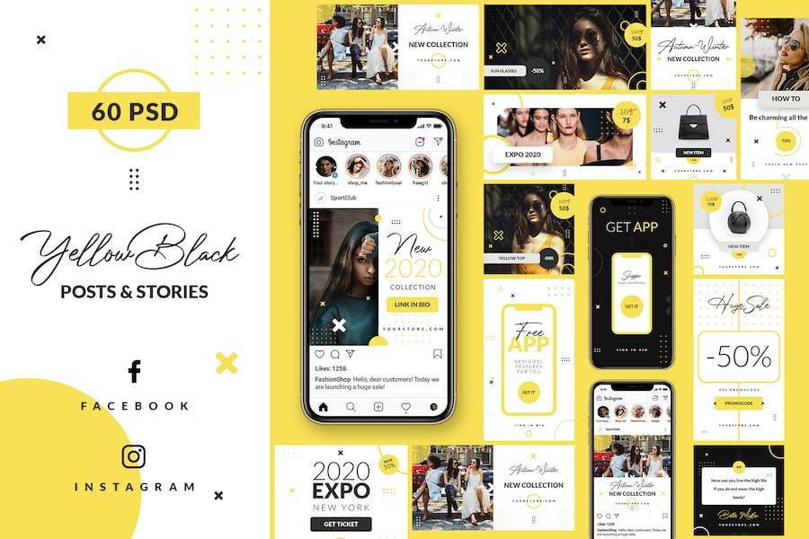 Yellow Black - Instagram&Facebook - Stories&Posts