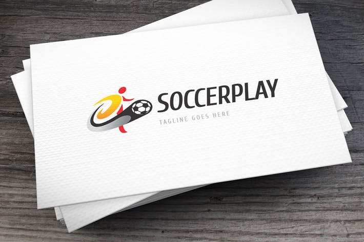 Cover Image For Soccer Play Logo Template