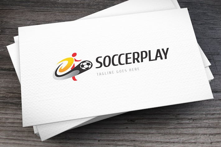 Soccer Play Logo Template
