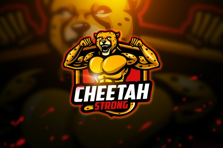 Thumbnail for Cheetah strong - Mascot & Esport Logo