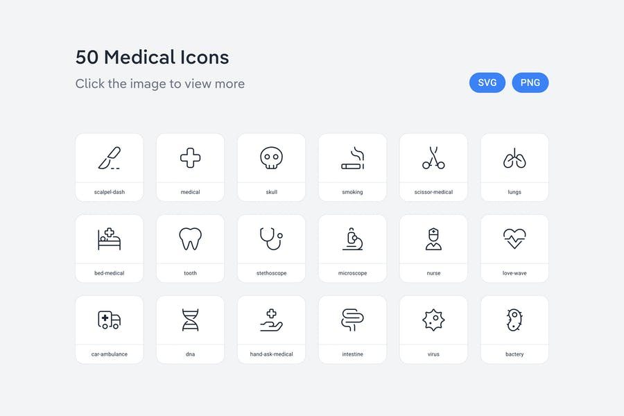 Medical icons — Line
