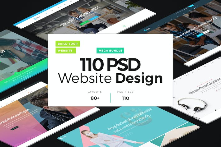 Thumbnail for 110 PSD Website Design