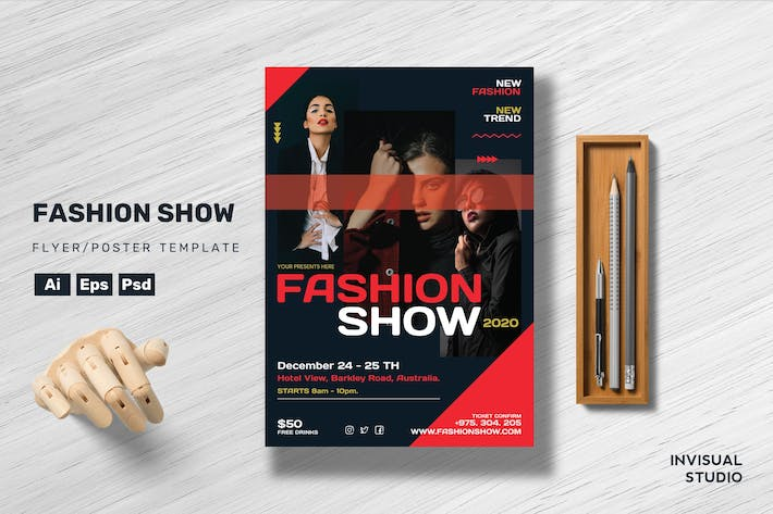 Thumbnail for Fashion Show - Flyer Template