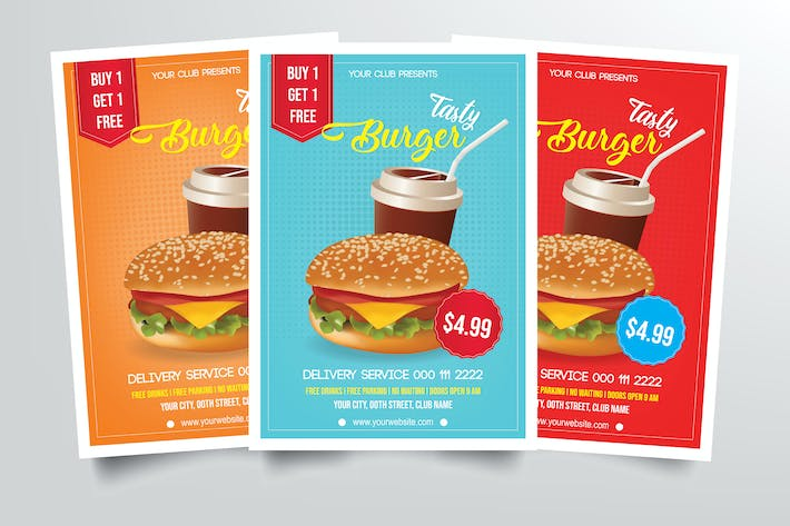 Thumbnail for Burger Restaurant Flyer Template