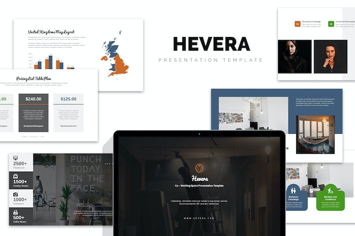 Thumbnail for Hevera : Coworking Space Business Google Slides