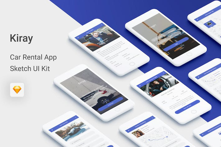 Thumbnail for Kiray - Car Rental UI Kit for Sketch