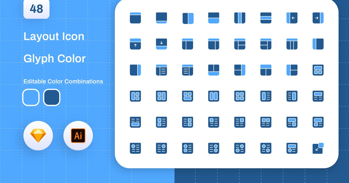 Download Layout Glyph Color Icon Set by sudutlancip