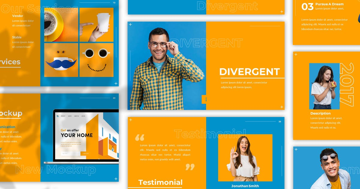 Download Divergent - Creative Powerpoint Template by SlideFactory