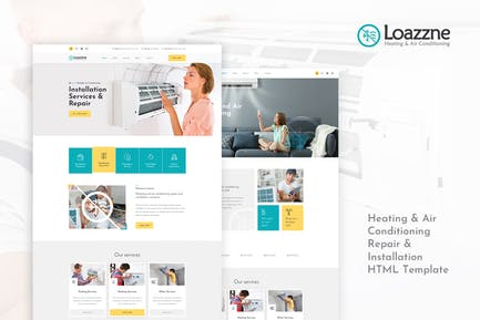 Loazzne - Heating & Air Conditioning Services HTML