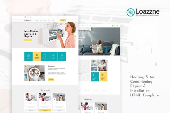 Thumbnail for Loazzne - Heating & Air Conditioning Services HTML