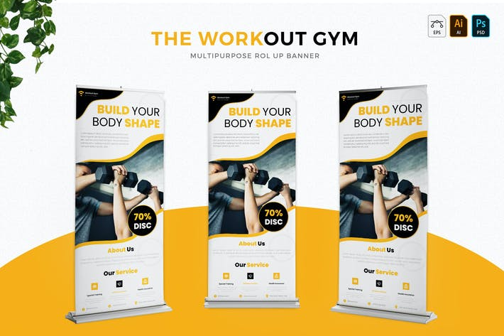 Thumbnail for Workout Gym | Roll Up Banner
