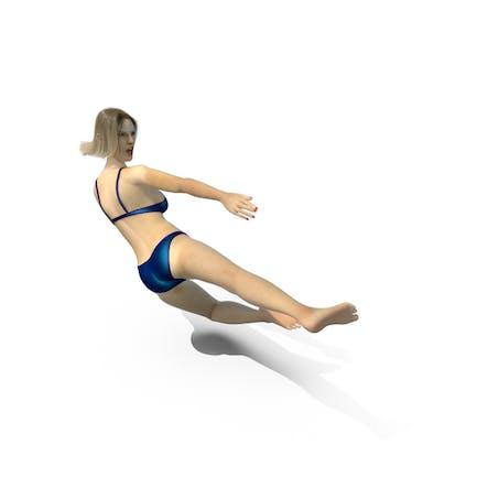 Swimsuit Girl Ninja Kick