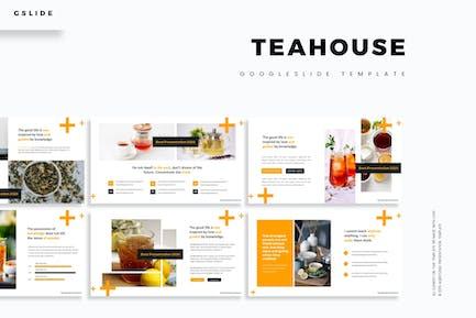 Чайный дом - Шаблон слайдов Google