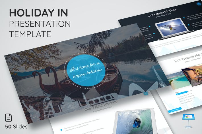 Thumbnail for Holiday in - Keynote Presentation Template