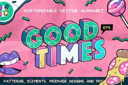 Ensemble alphabet et graphique Good Times